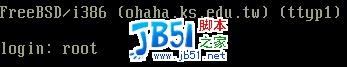 登入和注销 FreeBSD 系统