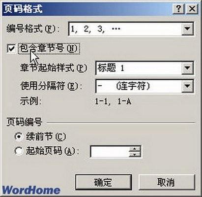 word2007设置页码格式